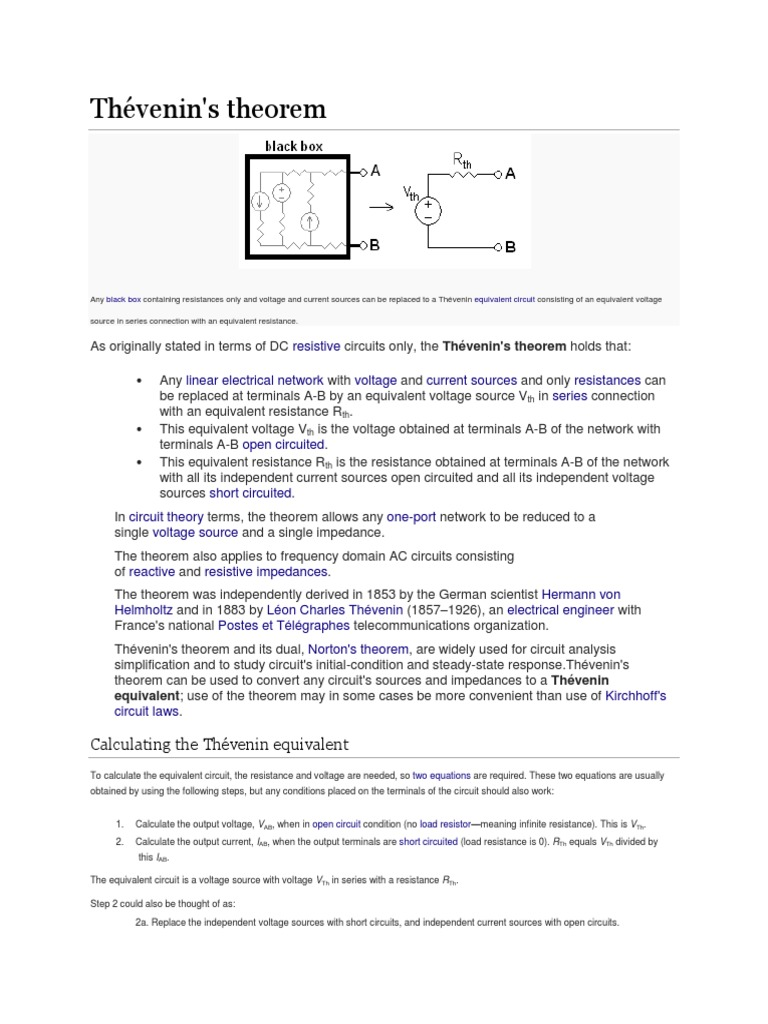 Calculating The Thvenin Equivalent Electrical Impedance Square Circuit Resistance Of Resistor Network