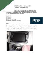 RNS-510 10 VW Passat CC DIY Installation Guide