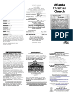 July 27, 2014 Trifold Bulletin