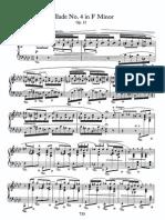 Ballade No 4 in f, Op 52