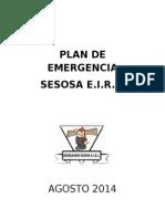 Plan Respuesta Emergencias 2014