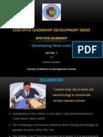Effective Leadership Lec 7 - Developing Teamwork (1)