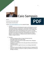 Resumé, Caio Sampaio