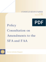 SFA FAA PhaseII Policy Consultation