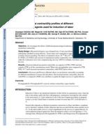 In Vitro Myometrial Contractility Profiles of Different