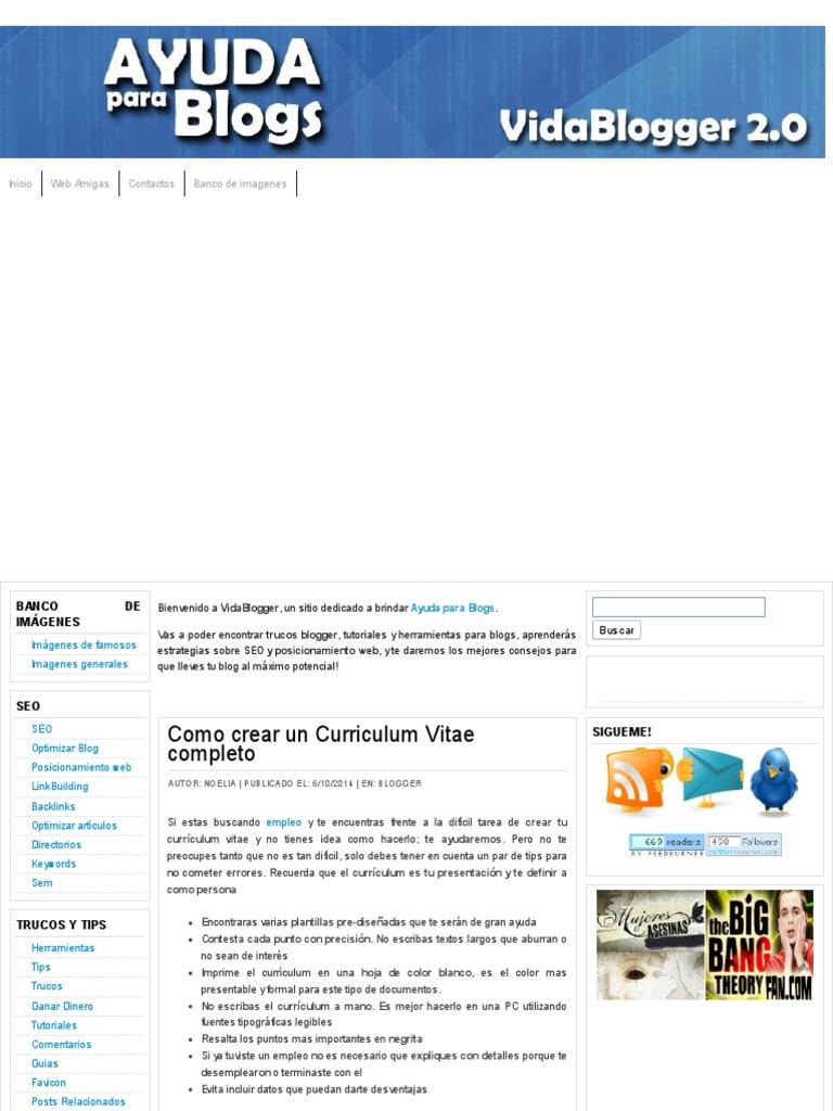 Curriculum Vitae De Famosos En Espanol