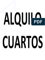 ALQUILO CUARTOS