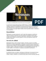 Los Objetivos de McDonald