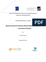 Quantitification of Political Risk in Foresight