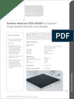 Toshiba Detector FDX 4343R En