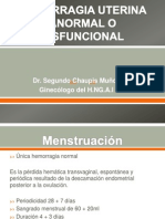 Hemorragia Uterina Anormal o Disfuncional