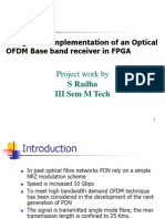 Design and Implementation of an Optical OFDM Base band receiver in FPGA