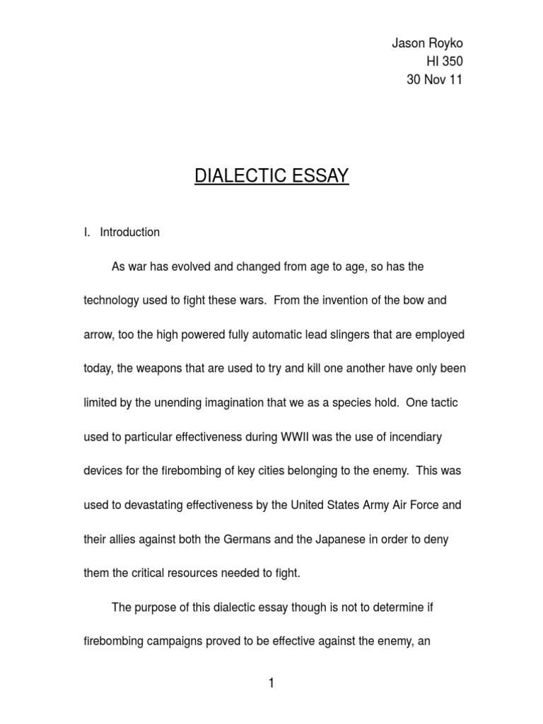 dialectical essay dialectic essay