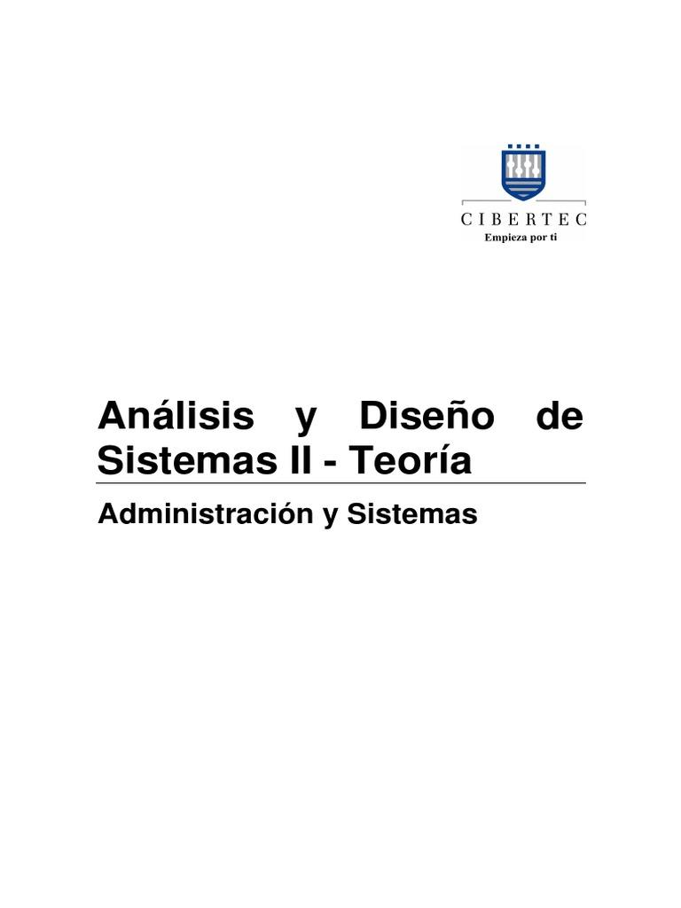 Manual 2011-II 04 Análisis y Diseño de Sistemas II (Adm Sist) Teoría ...