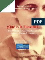STEIN, E. - Que es la Filosofia, Una conversacion entre Edmund Husserl y Tomas de Aquino  -Centro Pieper 2012.pdf