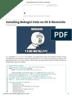 Installing Nokogiri Fails on OS X Mavericks _ Jasdeep Singh