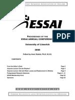ESSAI Conference Proceedings