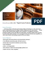 digital cinema syllabus 450 - 900 hours