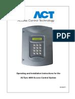 Pro_ACTpro 4000 Manual 1.0