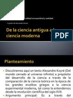 De La Ciencia Antigua a La Ciencia Moderna