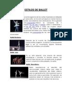 Estilos de Ballet