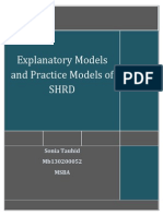 Explanatory Models and Practice Models of SHRD