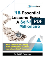 18 Essential Lessons From a Self Made Millionaire