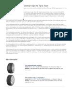 2013 European Summer Sports Tyre Test