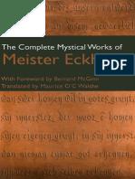 Mystical Works of Meister Eckhart