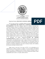 Sentencia Venezuela