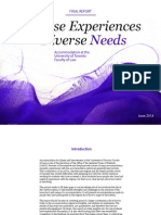 Diverse Experiences; Diverse Needs
