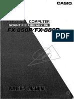 CASIO FX-850P/FX-880P - Personal Computer