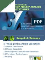 KTG 427 GEOSTATISTIK PB 3 PRINSIP ANALISIS GEOSTATISTIK.ppt