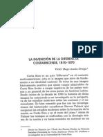 La Invención de La Diferencia Costarricense 1810-1870