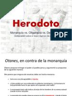 Herodoto y El Mejor Regimen de Gobierno