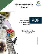 Solucionario Guía Avanzada Circunferencia y Círculo I 2013