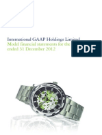 2012 Model Financial Statements