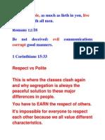 Respect vs Politeness