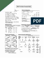 MCAT Formula Sheet