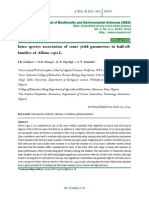 Intra species association of some yield parameters in half-sib families of Allium cepa L.