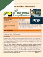 unit plan - panama land of adventure