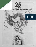 25 Años de La Cultura México Monsiváis