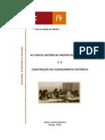 As Fontes Históricas Propostas No Manual - Maria Gorete Moreira