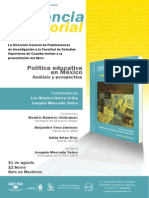 1 Politica Edcativa Enmexico Cartel Presentacion