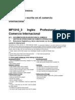Resumen Euroinnova 1. Inglés Oral y Escrito en El Comercio Internacional