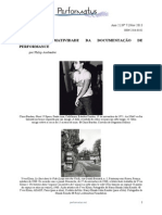 A Performatividade Da Documentação de Performance « Performatus