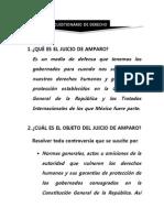 Cuestionario de Derecho de Amparo
