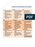 9 types of accommodations and modifications for disabilities