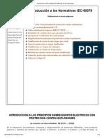 Introducción a Las Normativas IEC-60079 Para Áreas Clasificadas