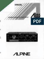 Alpine AL85_Stereo Cassette Deck Sm